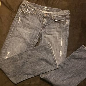 7 For All Mankind Distresses Jeans